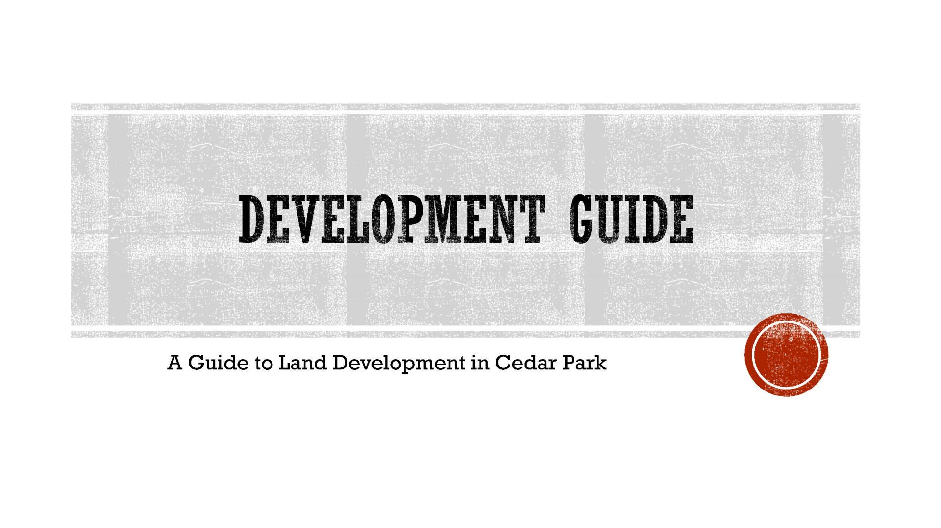 Development Guide Cover