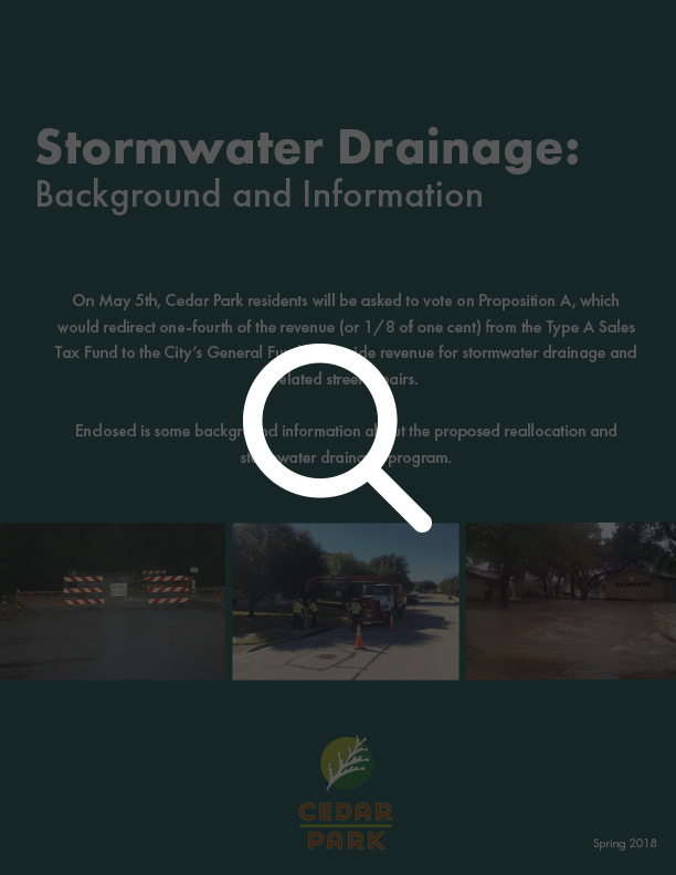 Proposition A - Stormwater Drainage Program