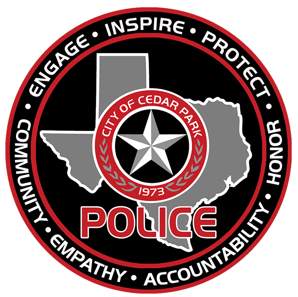 This image is of the Cedar Park Police Department seal.